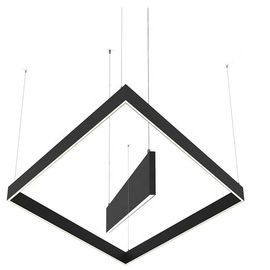 Black / White Linear LED Pendant Lights 2 Years Warranty For Office